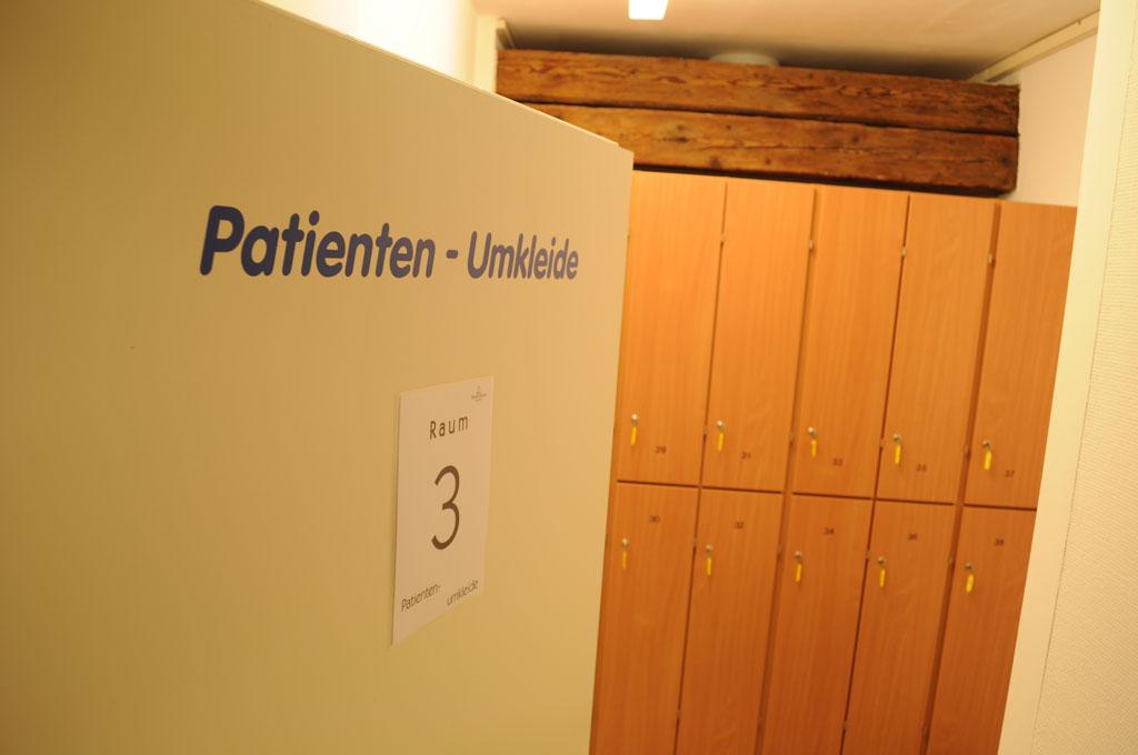 Patientenumkleide | Physio Pfersee im Schloss